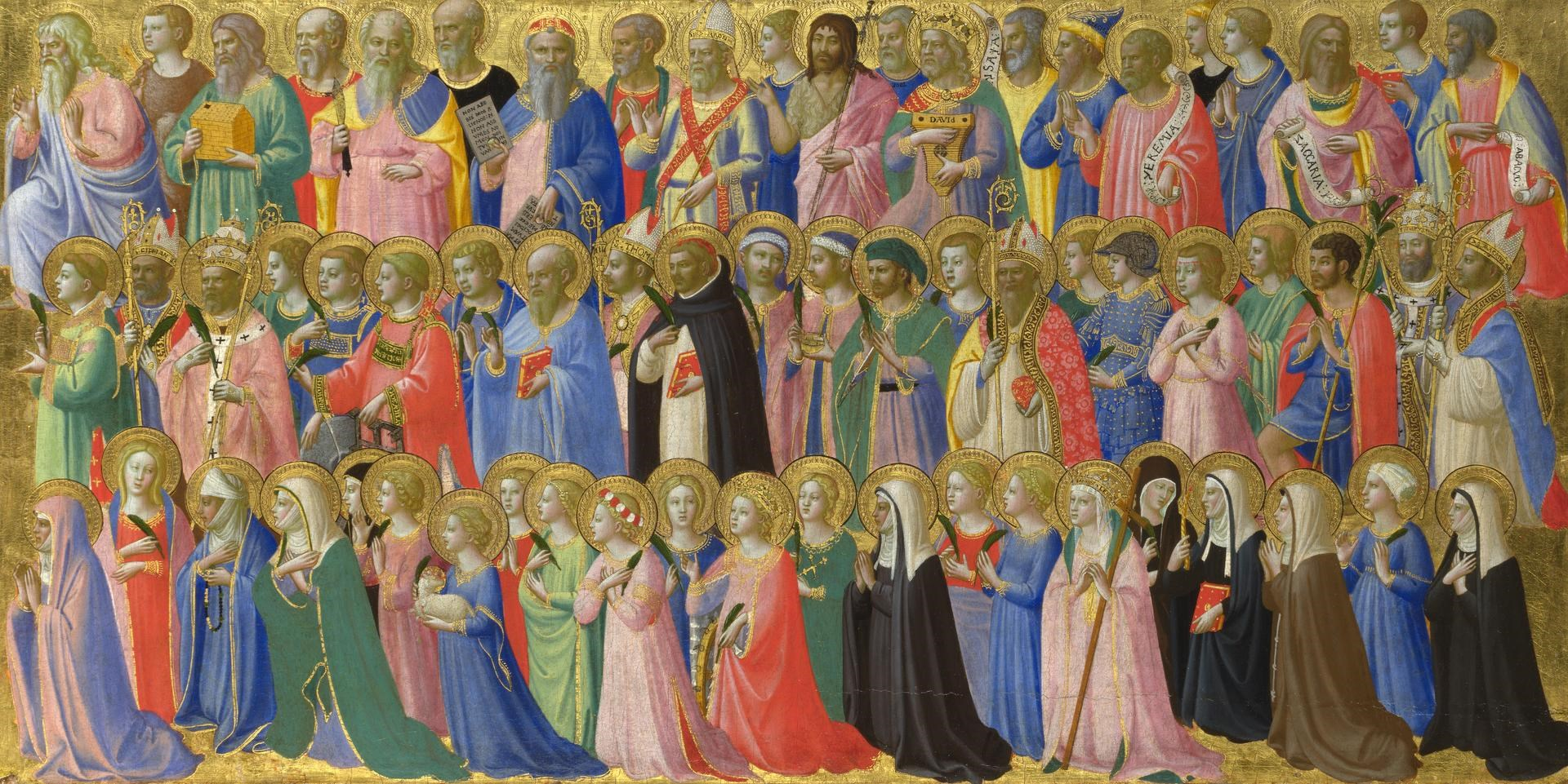 The Forerunners of Christ with Saints and Martyrs by Probably by Fra Angelico