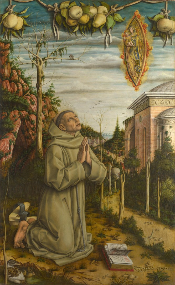 The Vision of the Blessed Gabriele by Carlo Crivelli