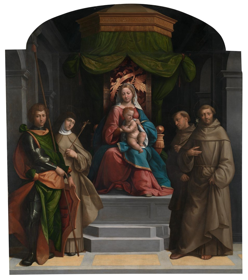 The Virgin and Child enthroned with Saints by Garofalo
