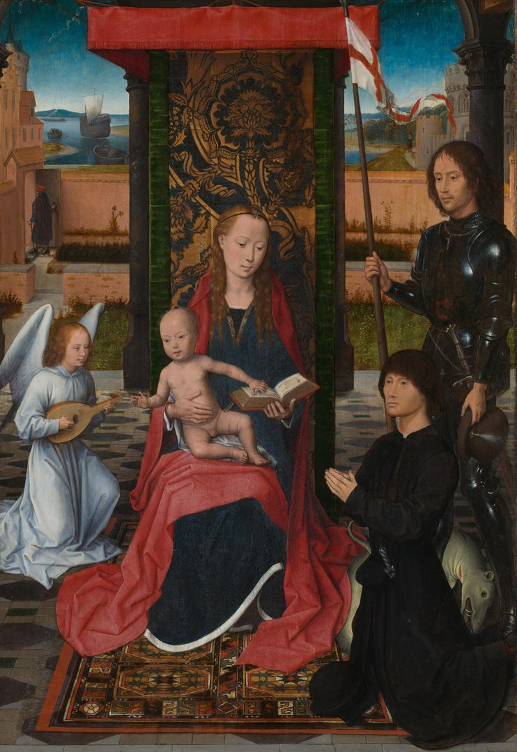 The Virgin and Child with an Angel by Hans Memling