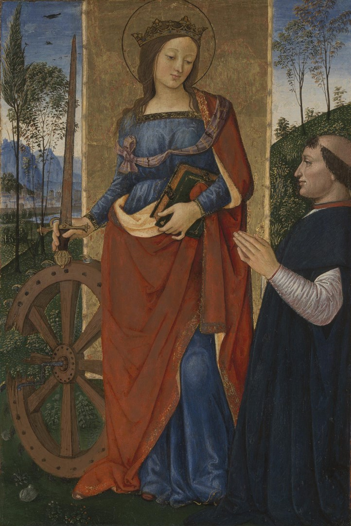 Saint Catherine of Alexandria with a Donor by Pintoricchio