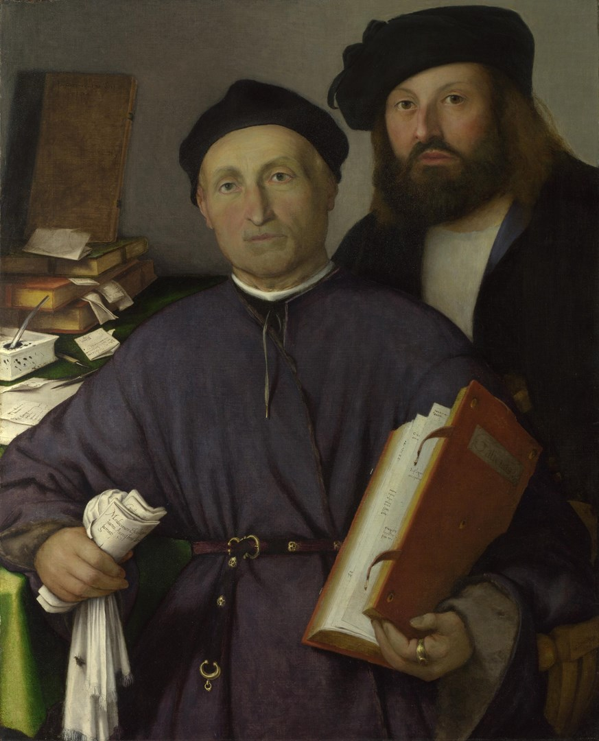 Giovanni Agostino della Torre and his Son, Niccolò by Lorenzo Lotto