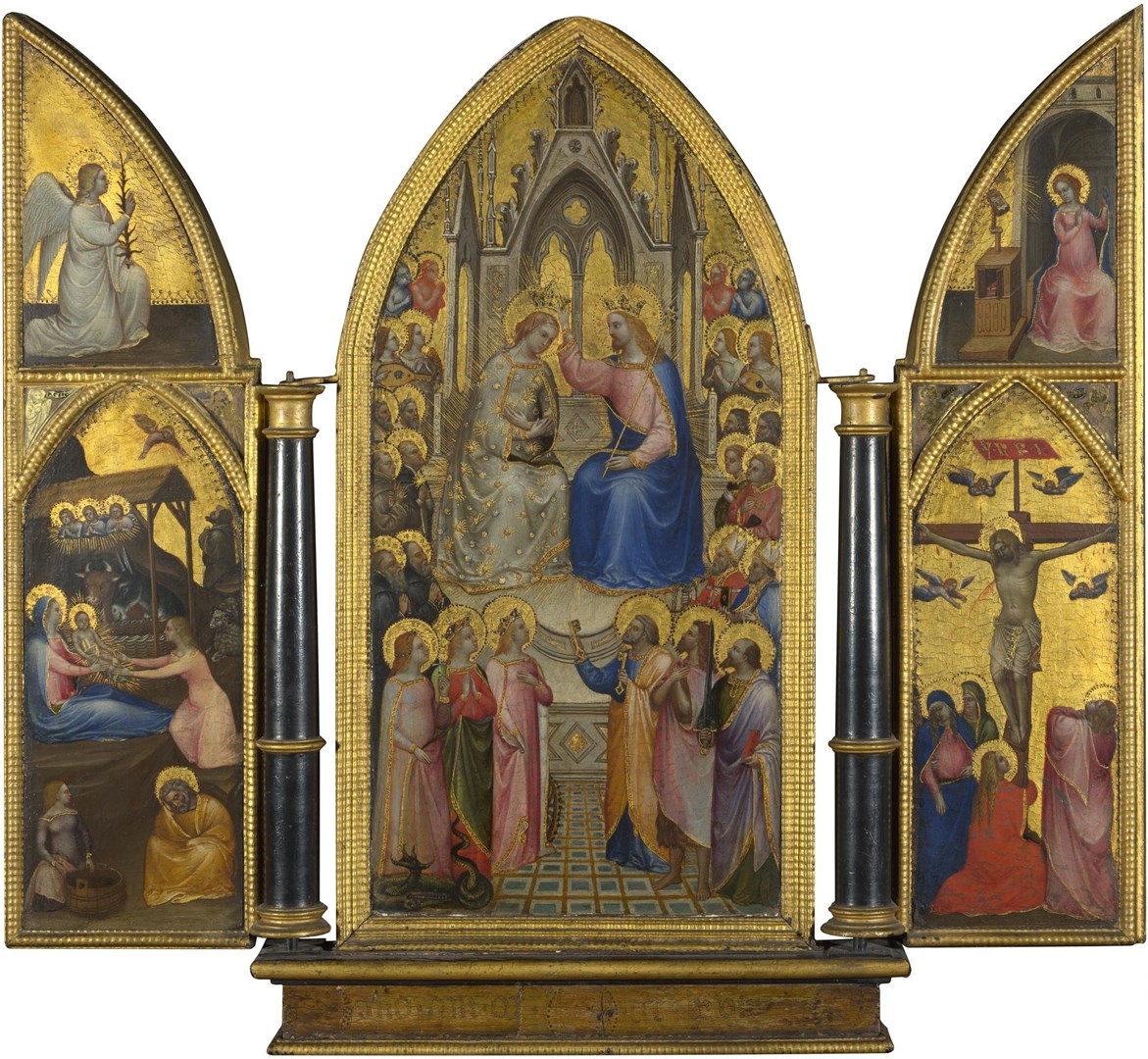The Coronation of the Virgin, and Other Scenes by Giusto de' Menabuoi