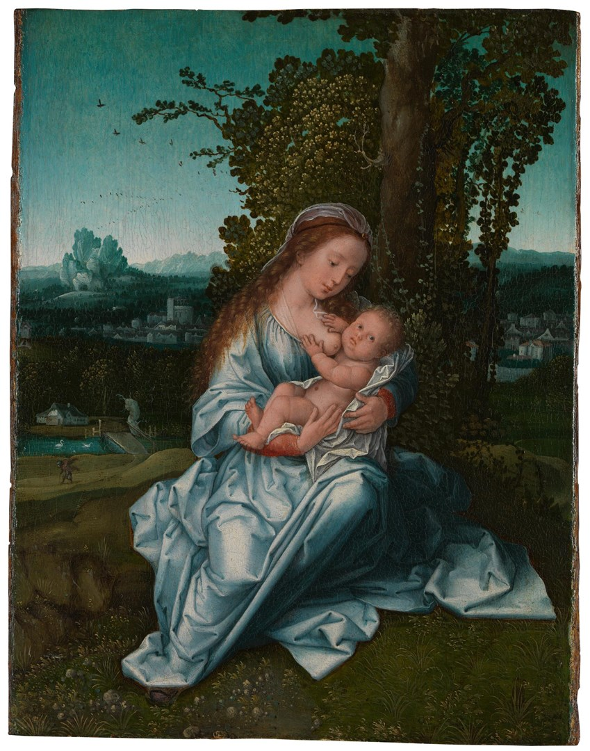 The Virgin and Child in a Landscape by Bernaert van Orley