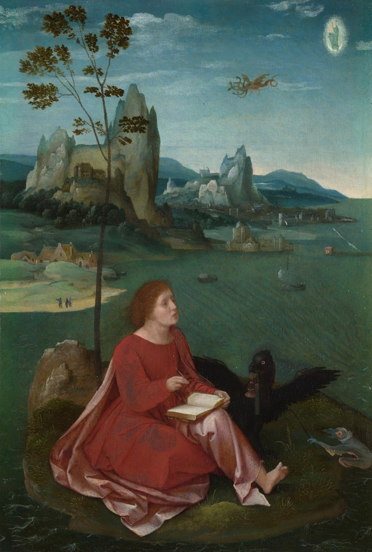 Saint John on Patmos by Master of the Female Half-Lengths