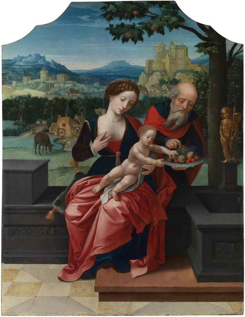 The Rest on the Flight into Egypt by Master of the Female Half-Lengths