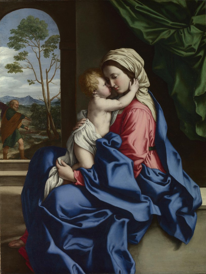 The Virgin and Child Embracing by Sassoferrato