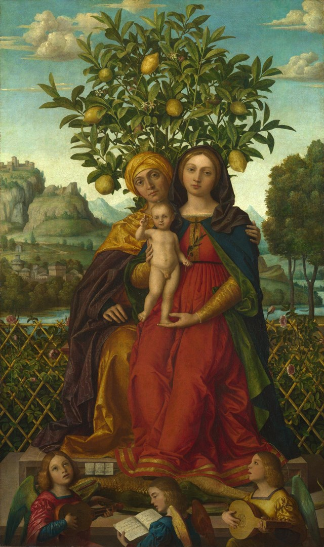 The Virgin and Child with Saint Anne by Gerolamo dai Libri