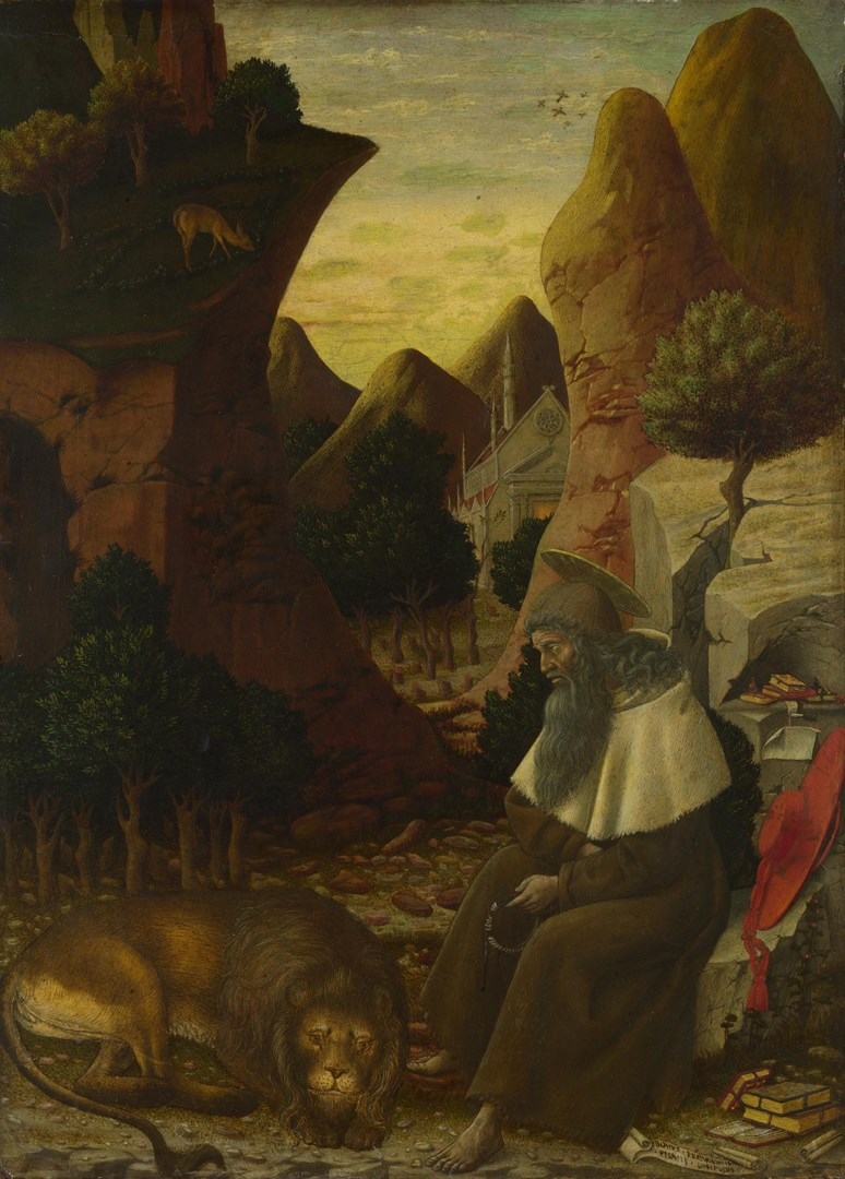 Saint Jerome in a Landscape by Bono da Ferrara