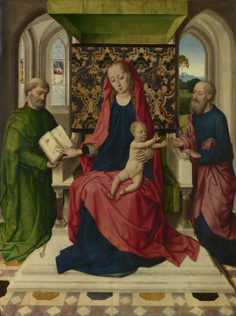 The Virgin and Child with Saint Peter and Saint Paul by Workshop of Dirk Bouts