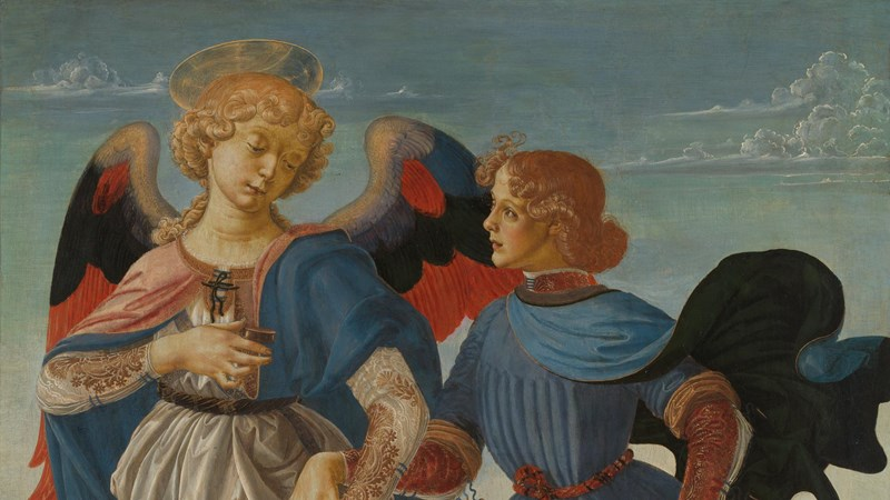 Workshop of Andrea del Verrocchio, 'Tobias and the Angel', about 1470-5