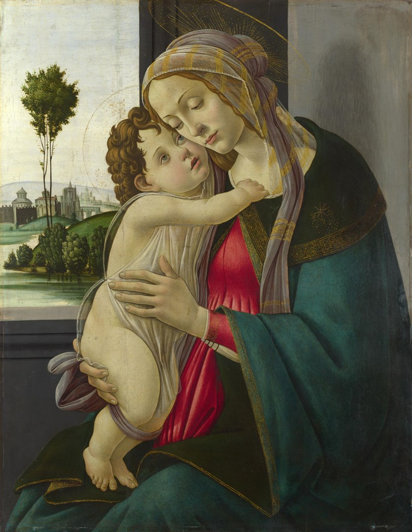 The Virgin and Child by Workshop of Sandro Botticelli