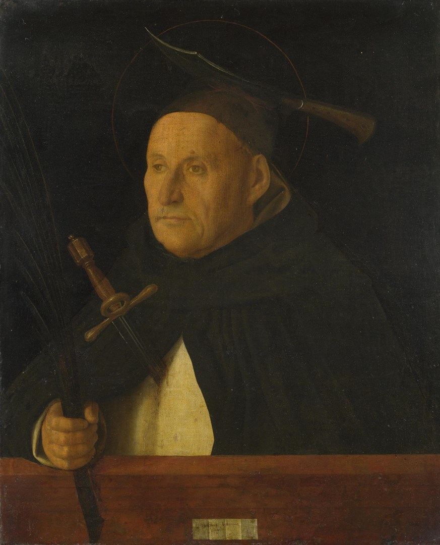 A Dominican, with the Attributes of Saint Peter Martyr by Giovanni Bellini