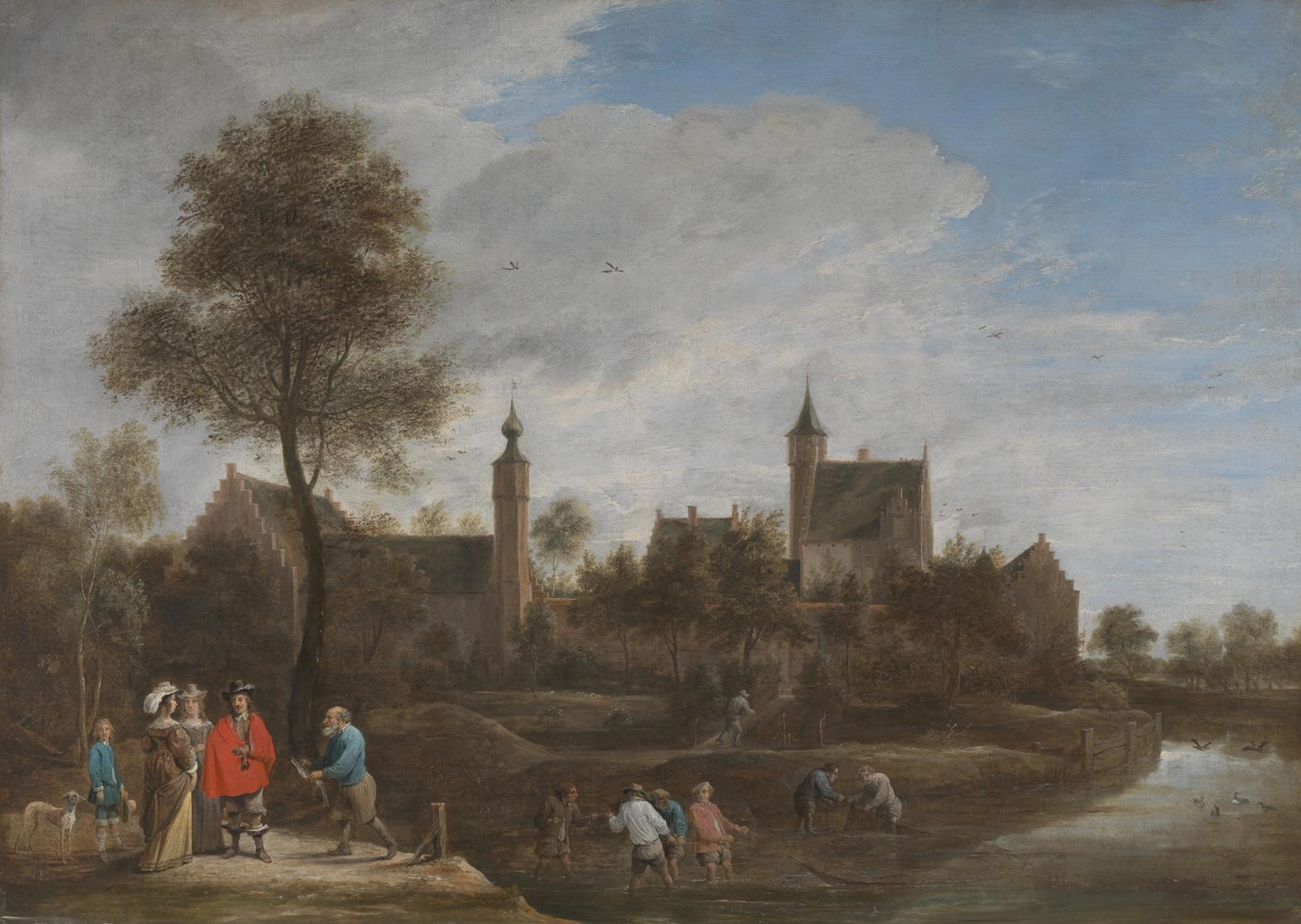 A View of Het Sterckshof near Antwerp by David Teniers the Younger