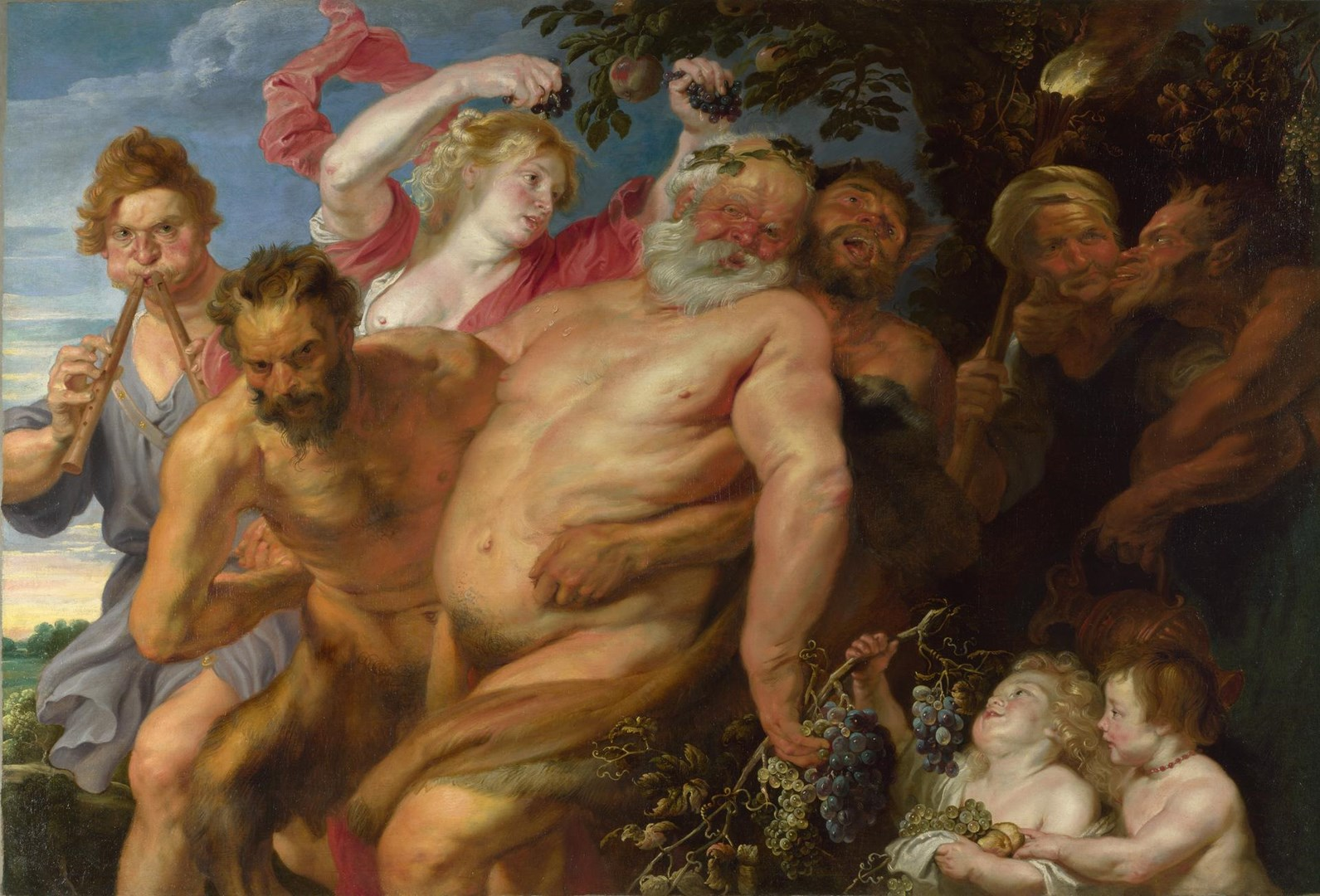 Drunken Silenus supported by Satyrs by Possibly by Anthony van Dyck