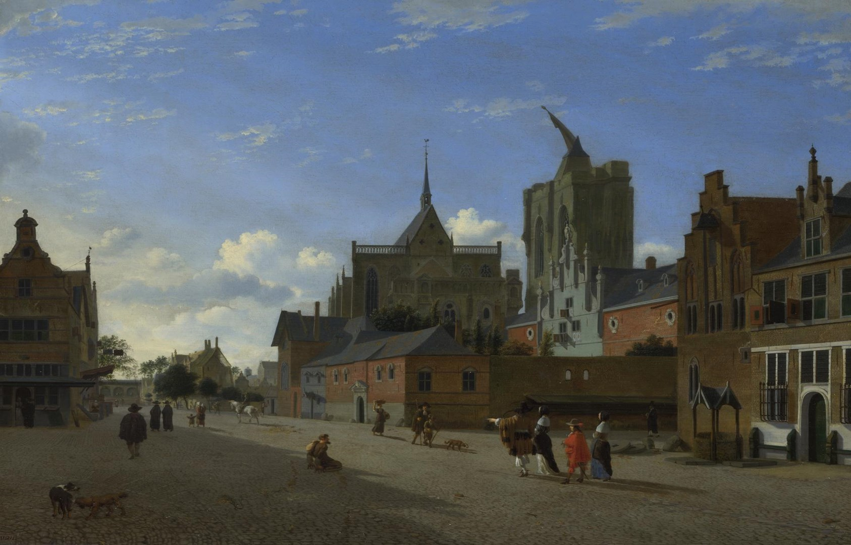 A View in Cologne by Jan van der Heyden