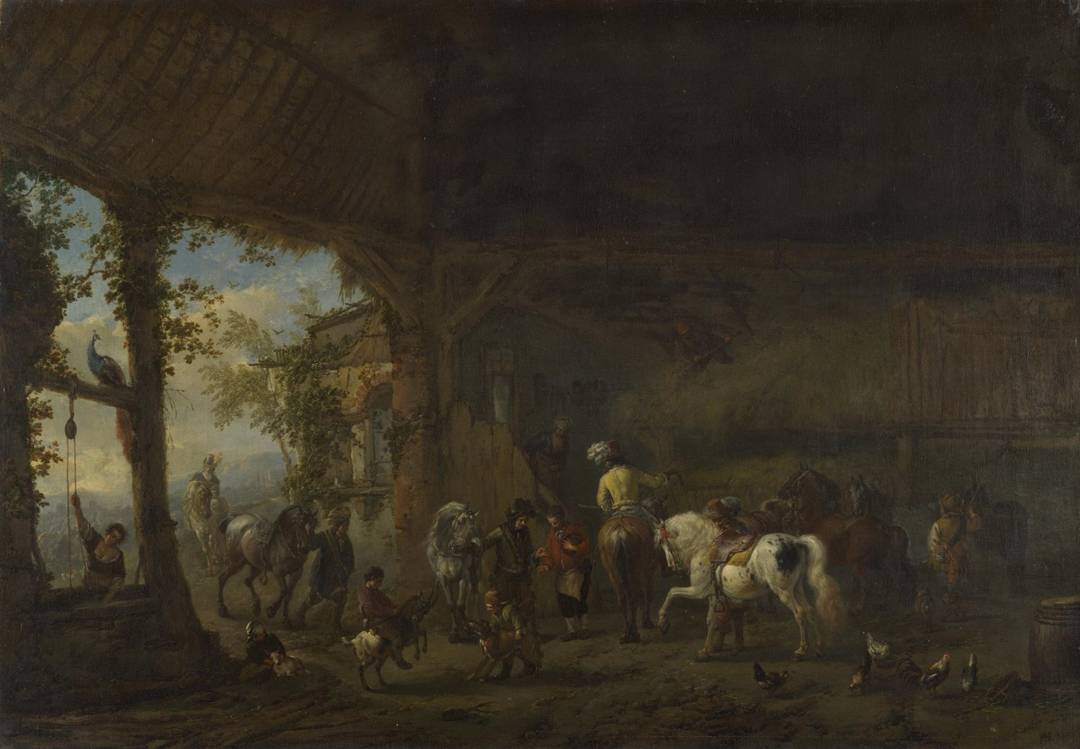 The Interior of a Stable by Philips Wouwerman