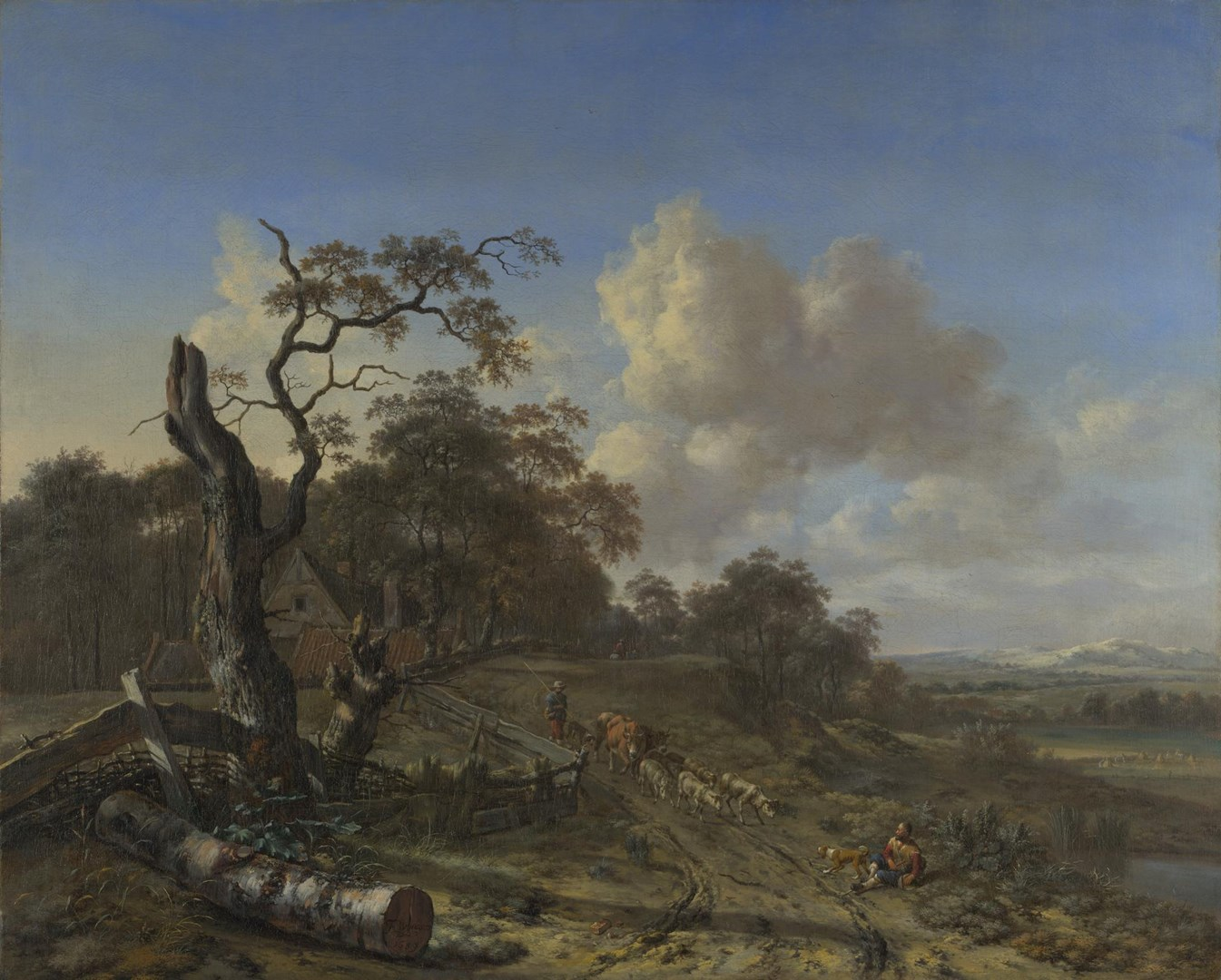 A Landscape with a Dead Tree by Jan Wijnants