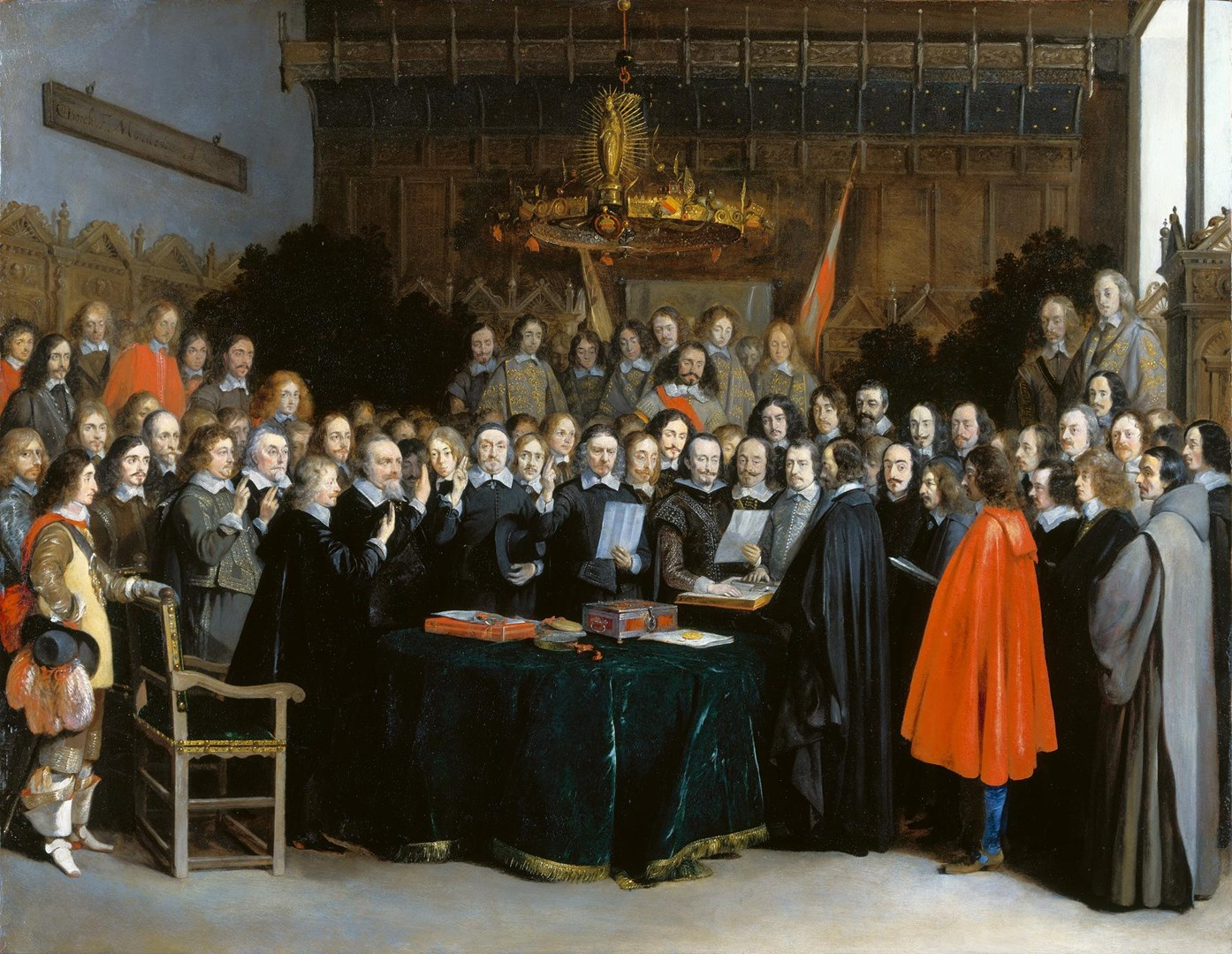 The Ratification of the Treaty of Münster by Gerard ter Borch