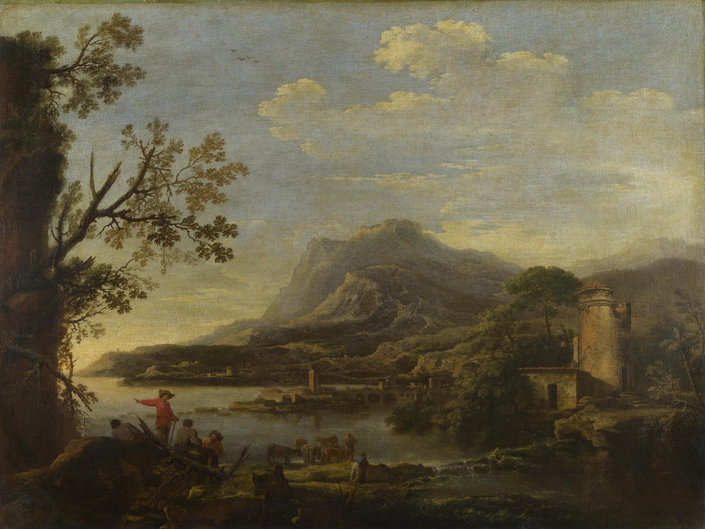 A Coastal Scene by Style of Salvator Rosa