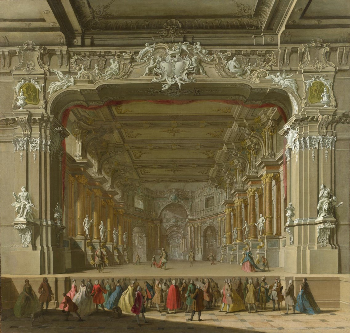 The Interior of a Theatre by Italian, North