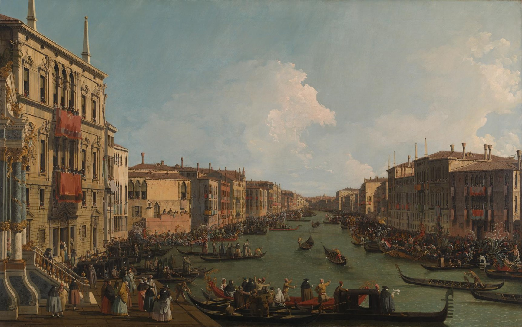 Venice: A Regatta on the Grand Canal by Canaletto