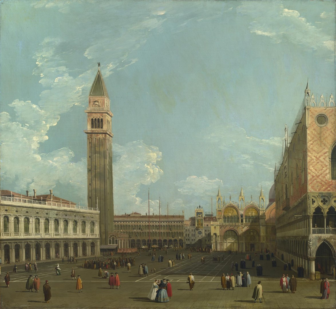 Venice: The Piazzetta from the Molo by Studio of Canaletto