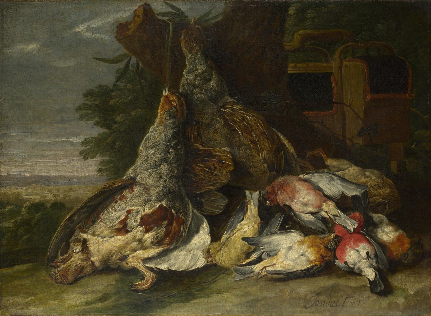 Dead Birds in a Landscape by Jan Fyt