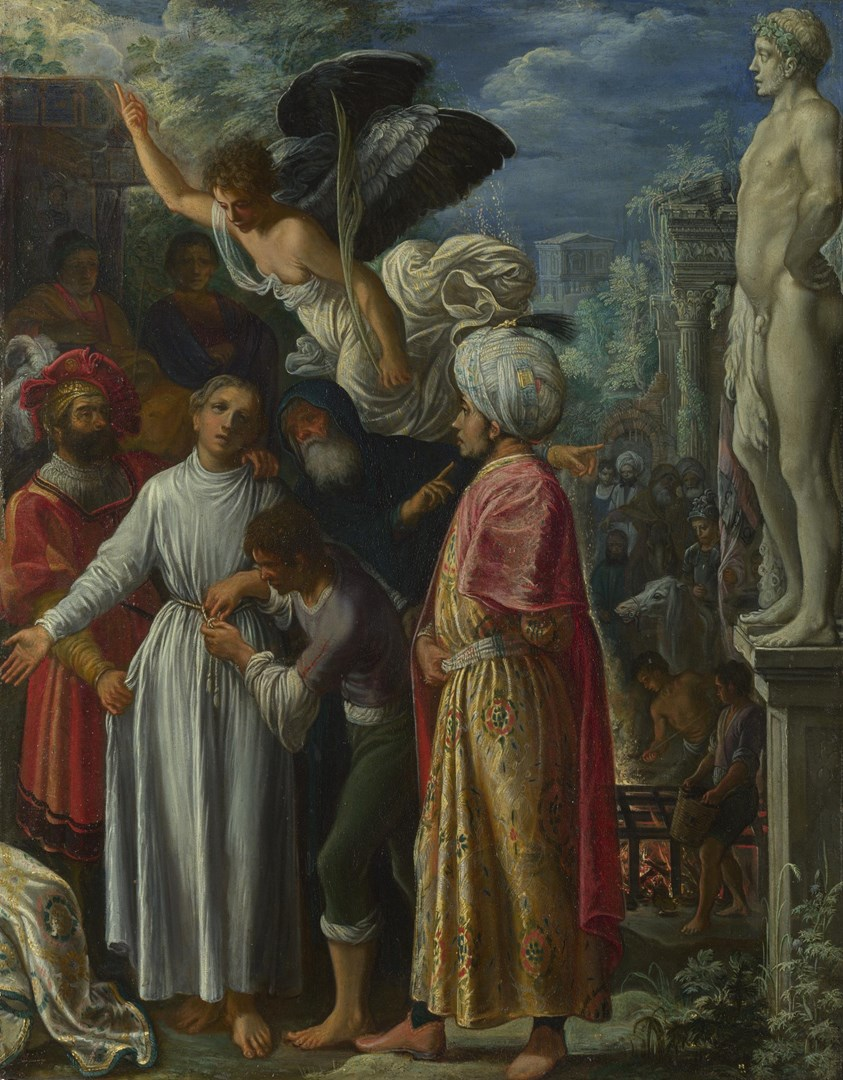 Saint Lawrence prepared for Martyrdom by Adam Elsheimer