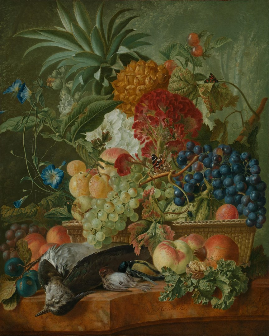Fruit, Flowers and Dead Birds by Wybrand Hendriks