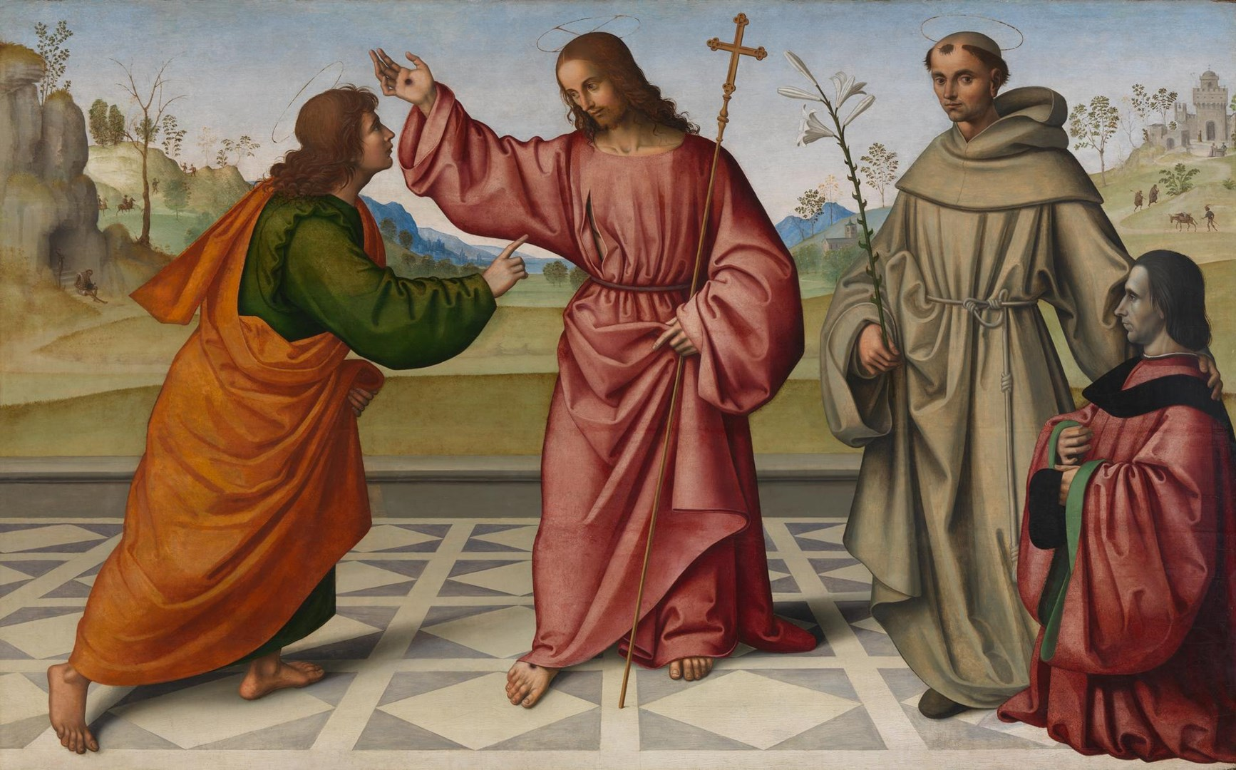 The Incredulity of Saint Thomas with a Donor by Giovanni Battista Bertucci the Elder