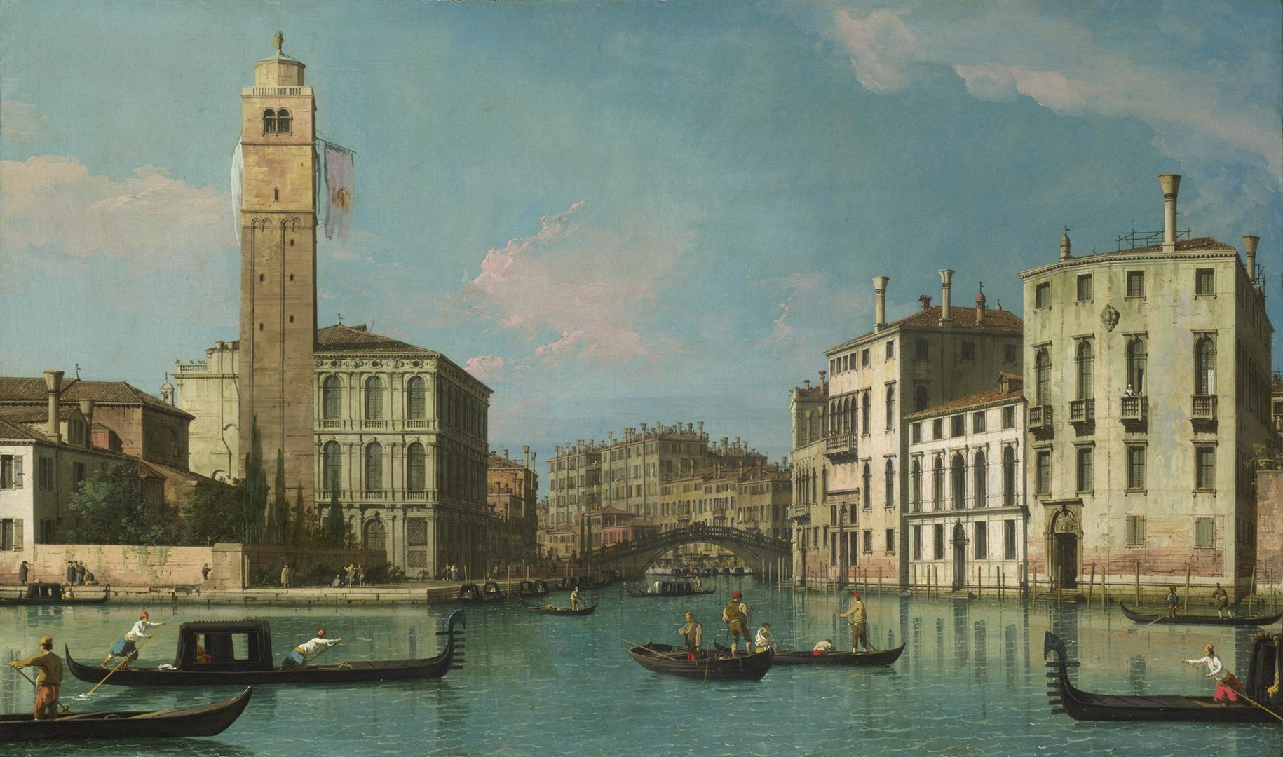 Venice: Entrance to the Cannaregio by Canaletto