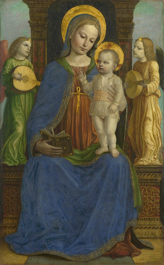The Virgin and Child with Two Angels by Bernardino Bergognone