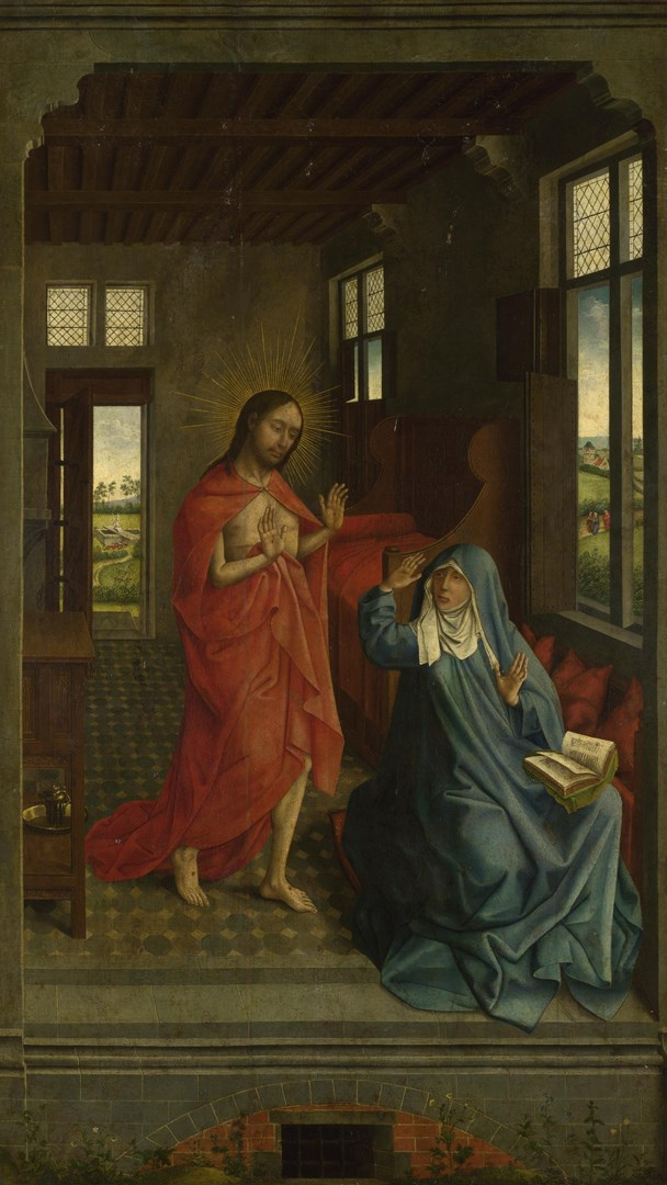 Christ appearing to the Virgin by Follower of Rogier van der Weyden
