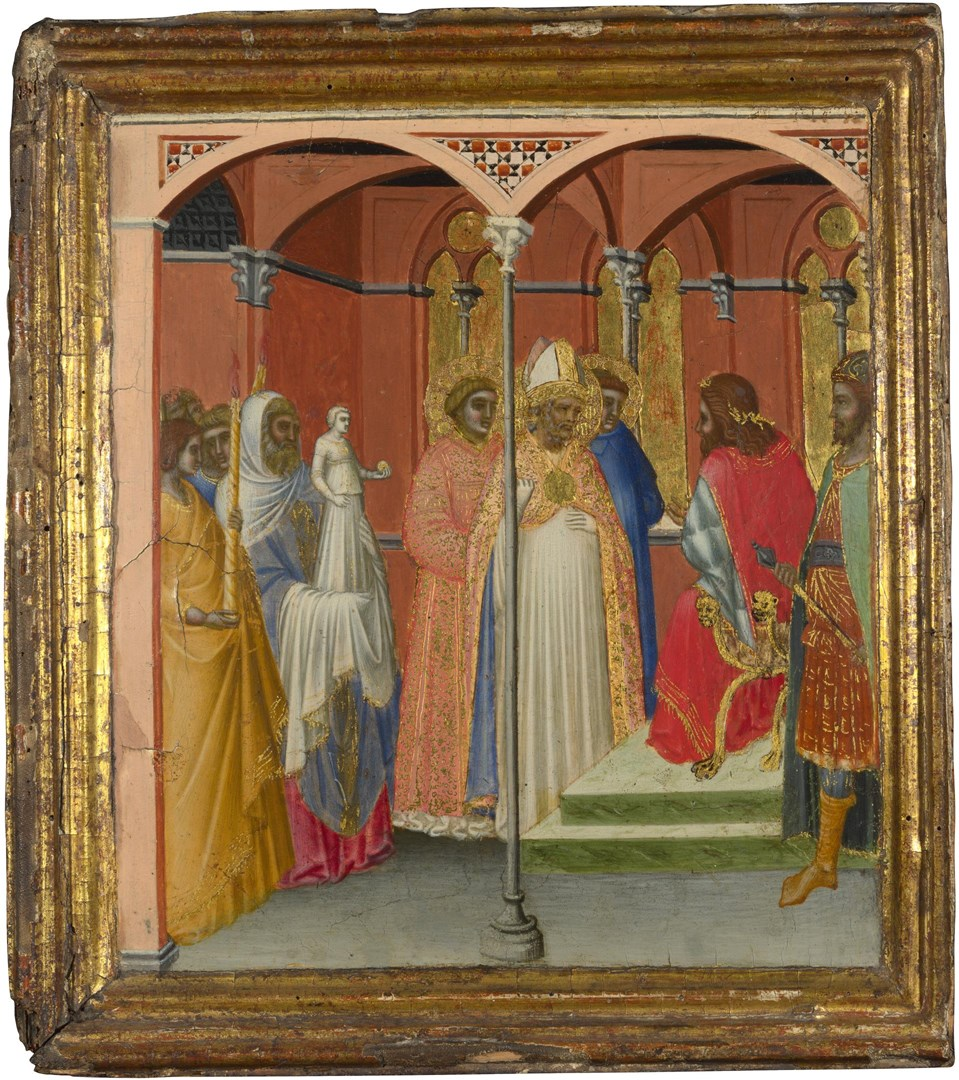 Saint Sabinus before the Roman Governor of Tuscany by Pietro Lorenzetti and Workshop