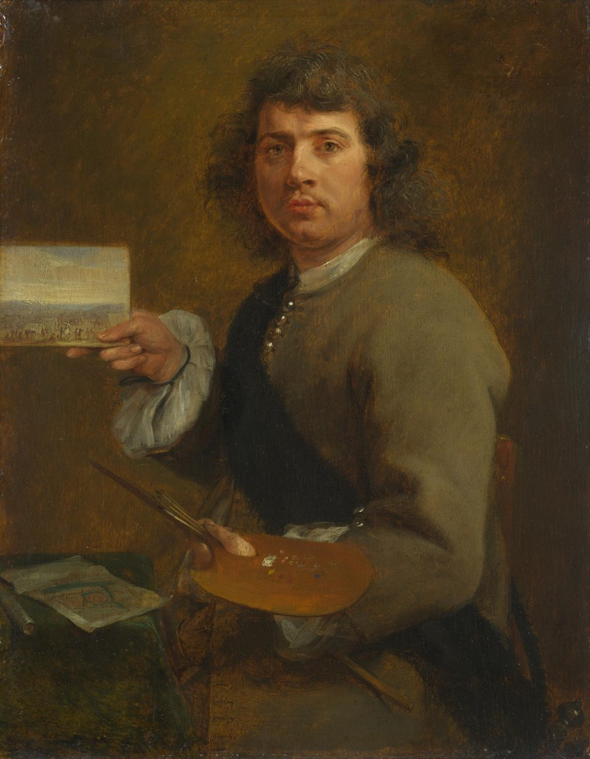 Sight (Portrait of Robert van den Hoecke) by Gonzales Coques