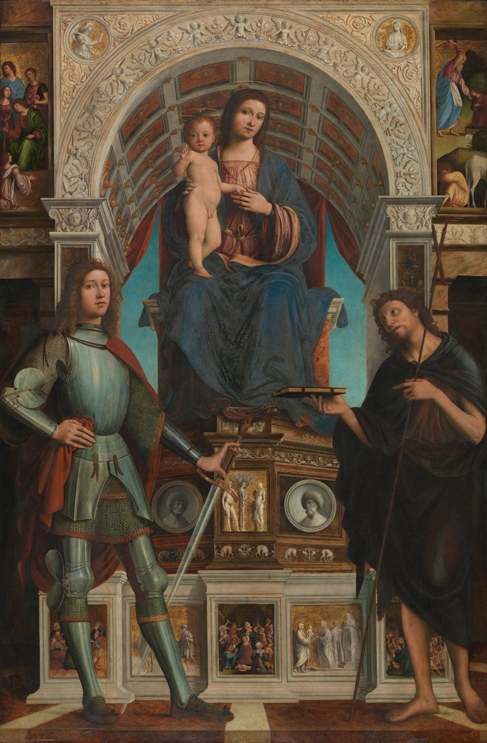 The Virgin and Child with Saints by Lorenzo Costa with collaborators