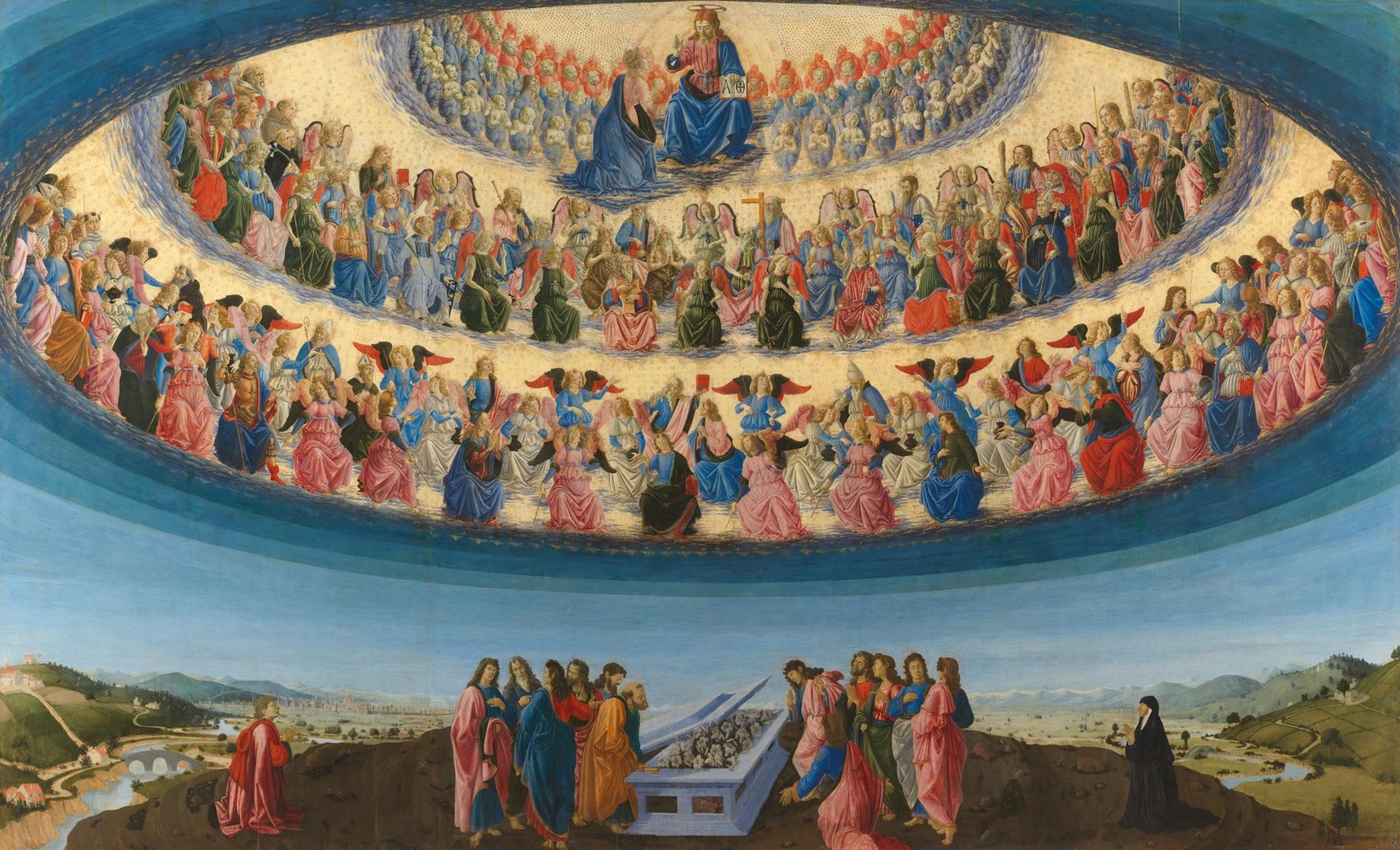 The Assumption of the Virgin by Francesco Botticini