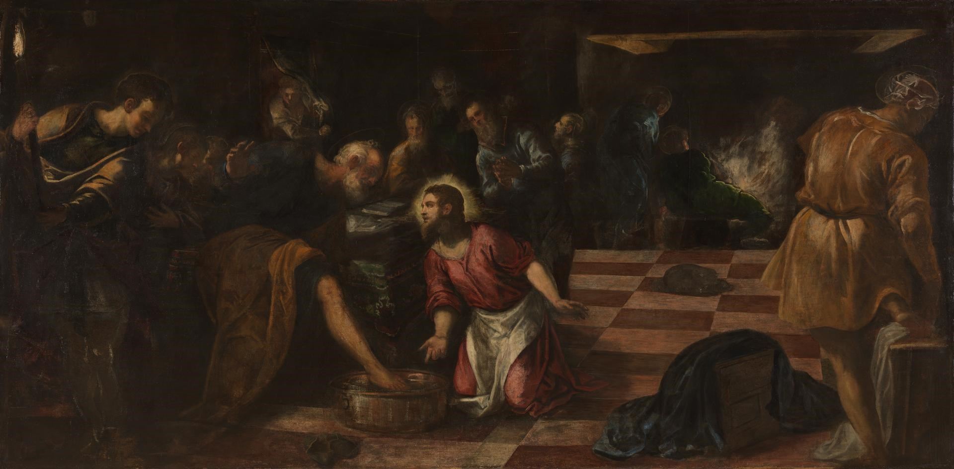 Christ washing the Feet of the Disciples by Jacopo Tintoretto