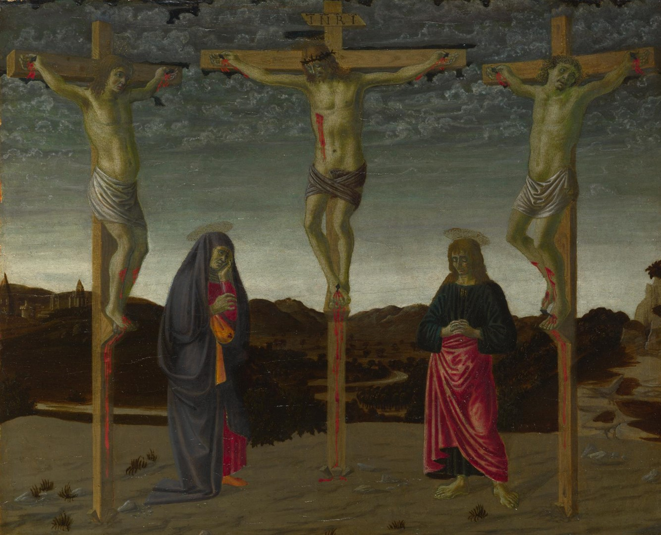 The Crucifixion by Possibly by Francesco Botticini