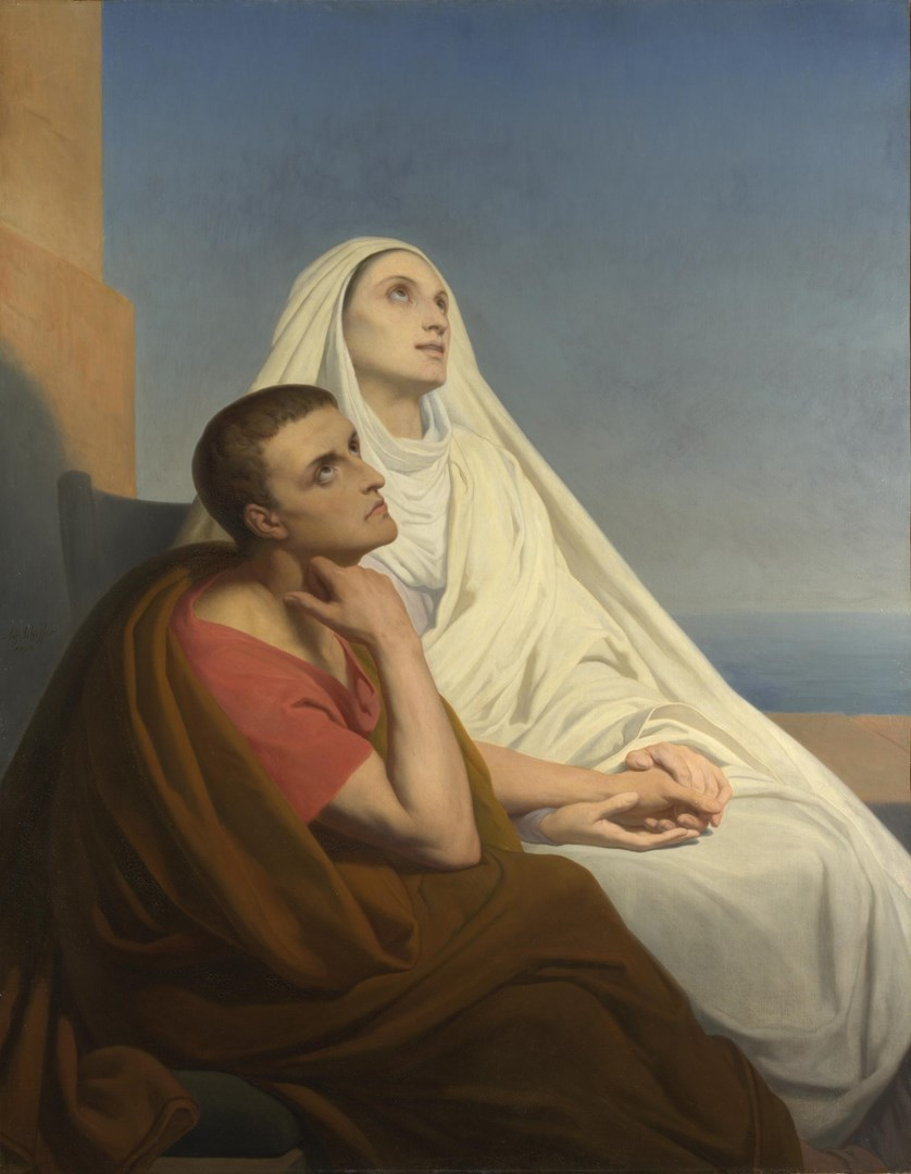 Saints Augustine and Monica by Ary Scheffer