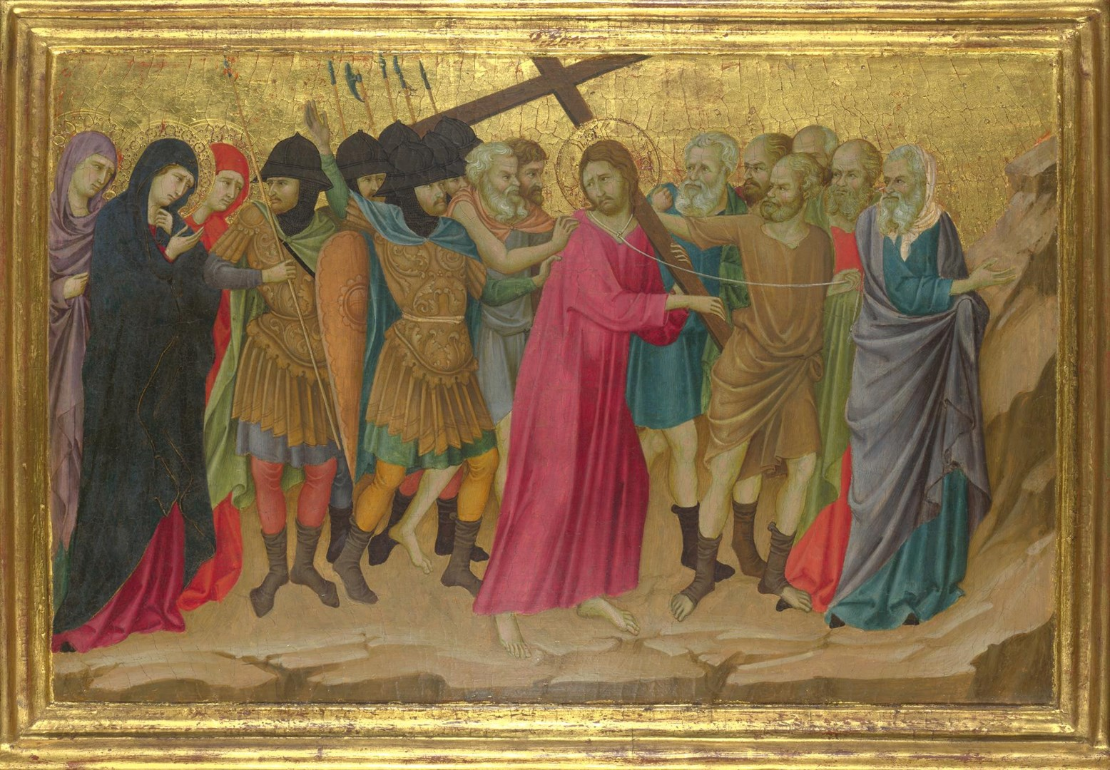 The Way to Calvary by Ugolino di Nerio