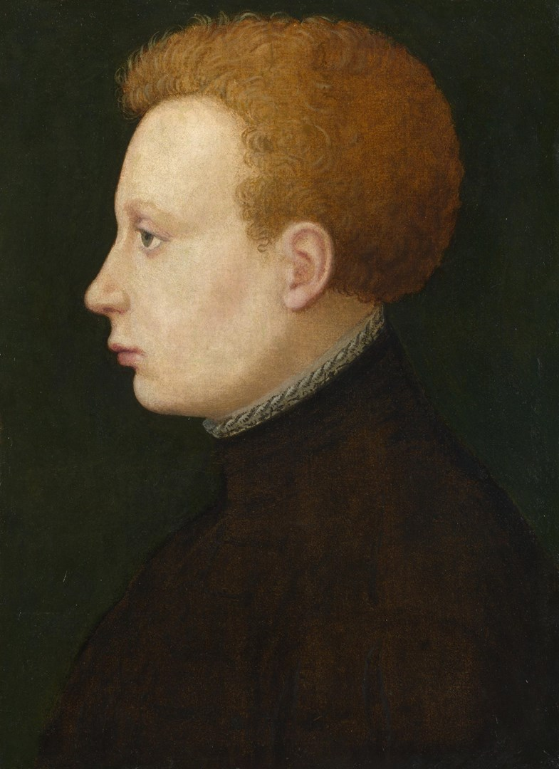 Profile Portrait of a Young Man by French