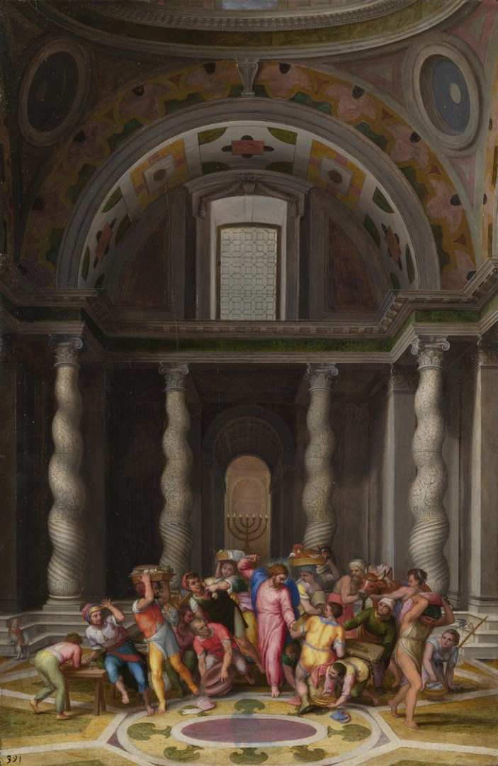 The Purification of the Temple by Marcello Venusti