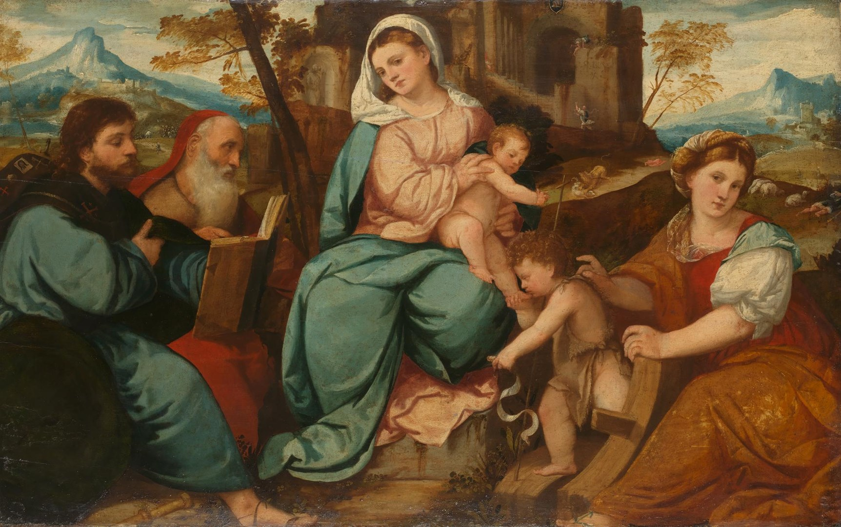 The Madonna and Child with Saints by Bonifazio di Pitati