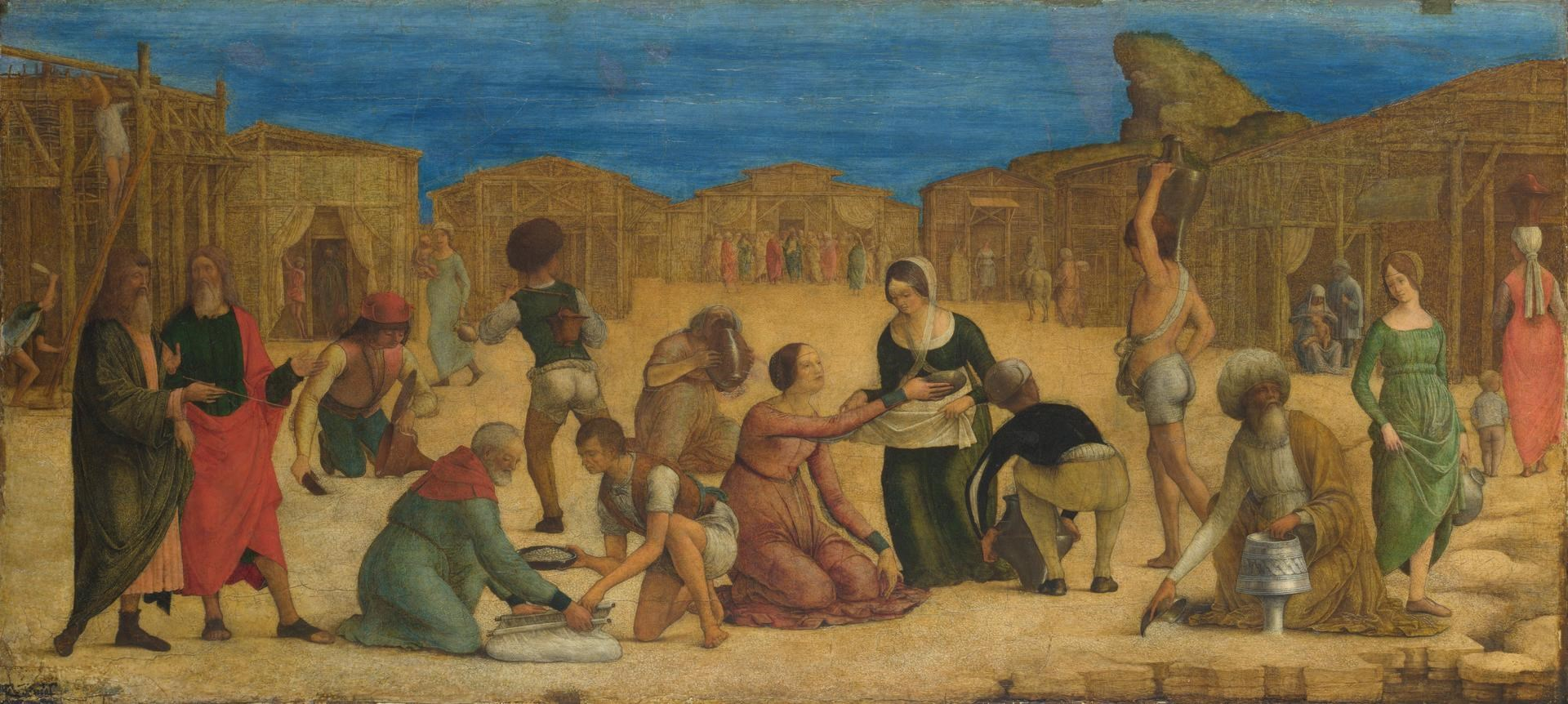 The Israelites gathering Manna by Ercole de' Roberti
