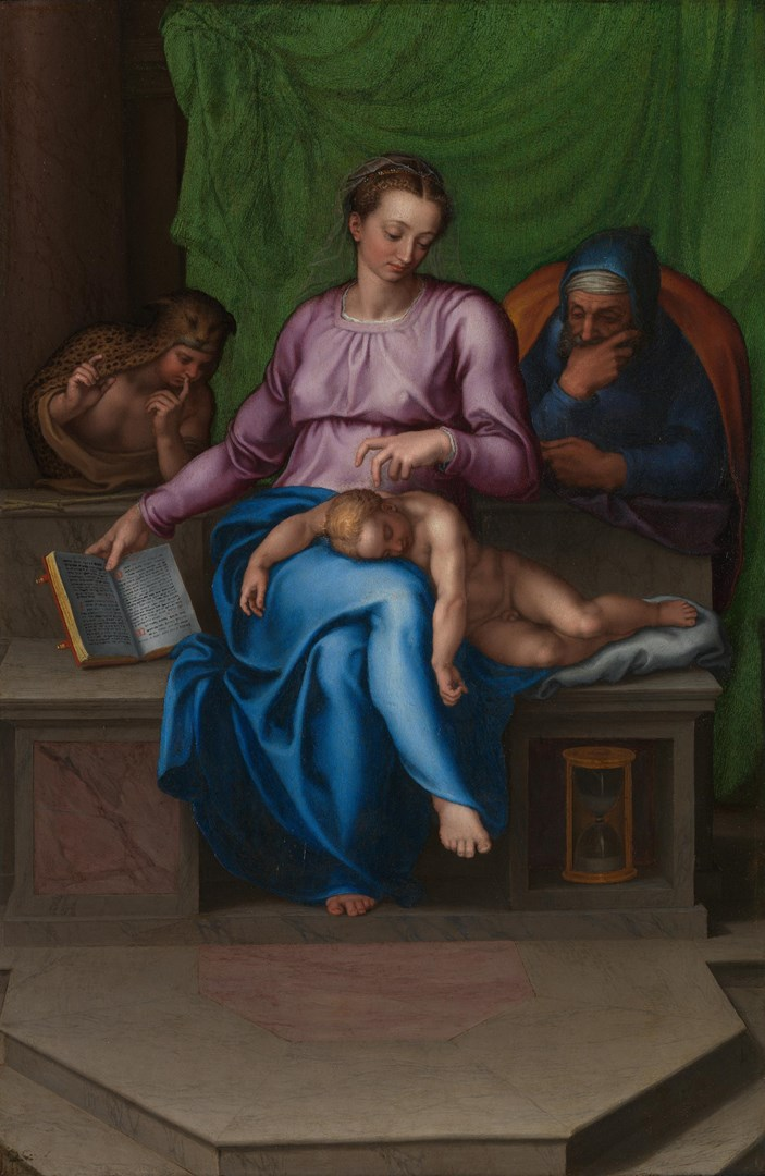 The Holy Family (Il Silenzio) by Marcello Venusti after Michelangelo