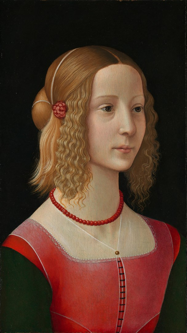 Portrait of a Girl by Workshop of Domenico Ghirlandaio