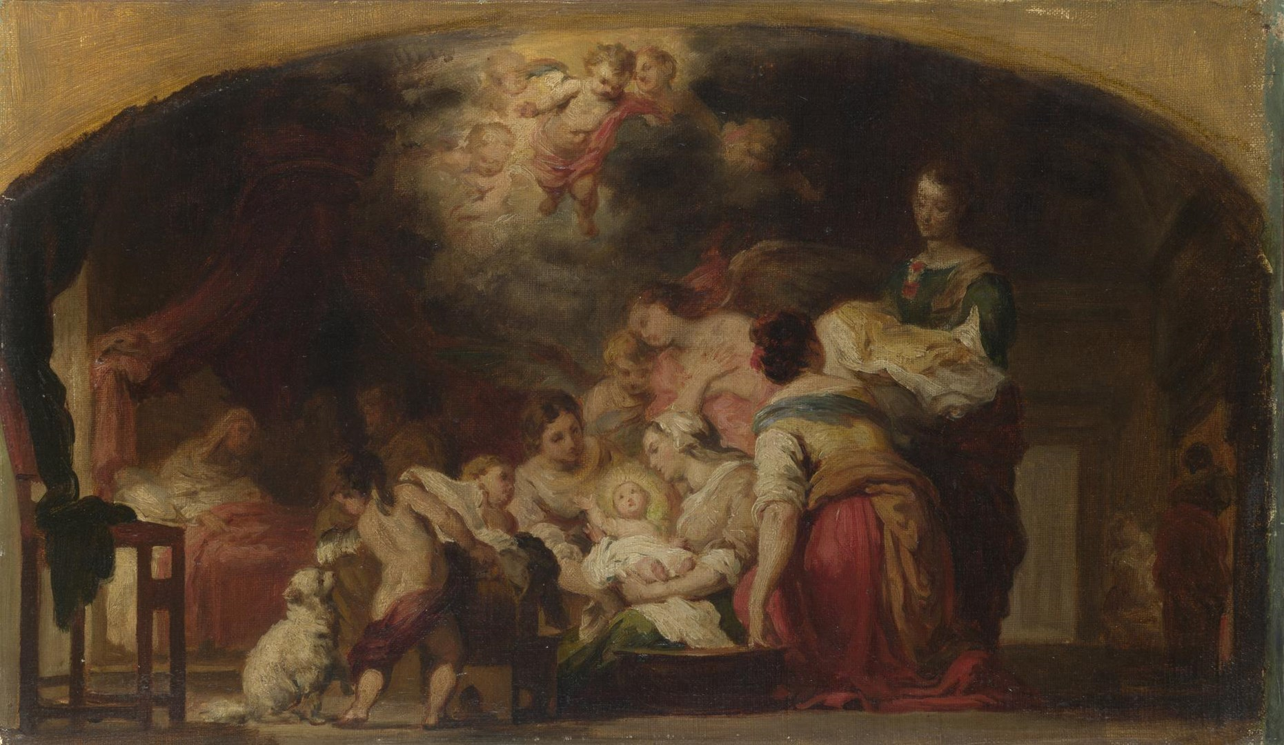 The Birth of the Virgin by After Bartolomé Esteban Murillo