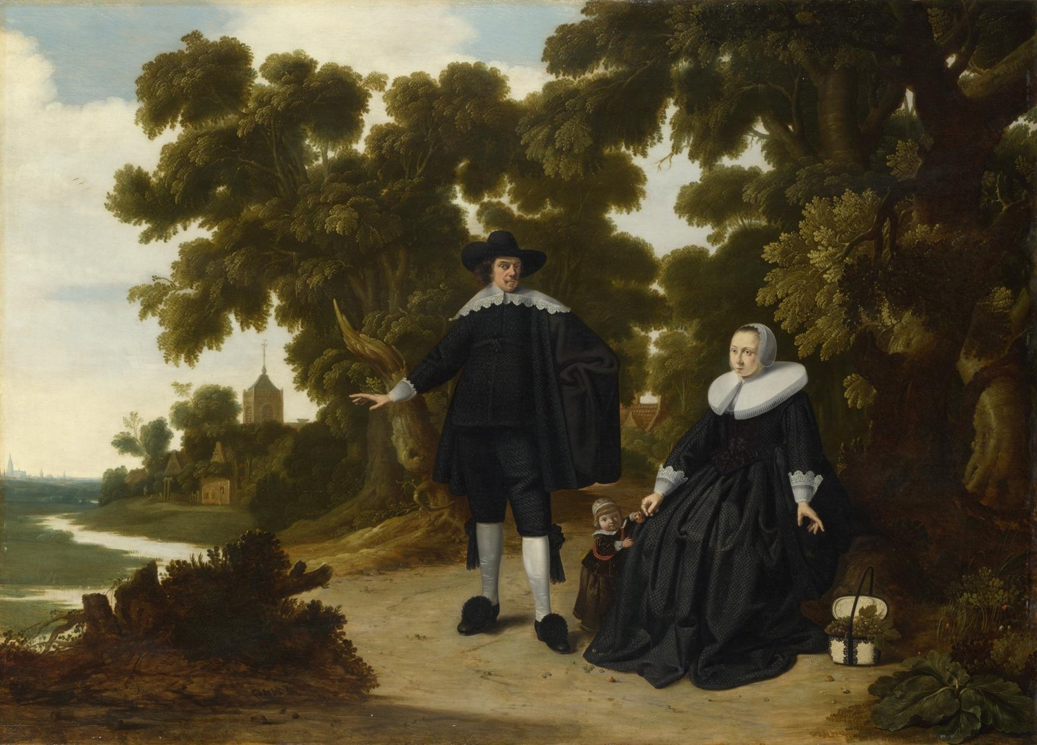 Portrait of Jan van Hensbeeck, his Wife and a Child by G. Donck